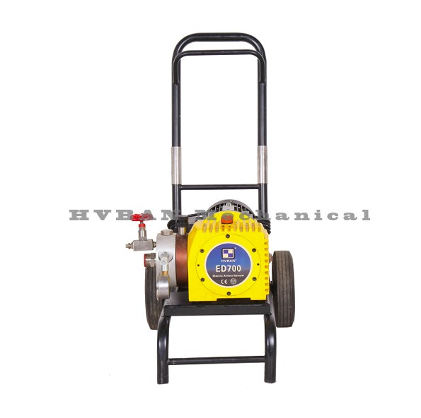 ED700 Diaphragm Airless Sprayer, Agitation film, spray gun with high pressure tip