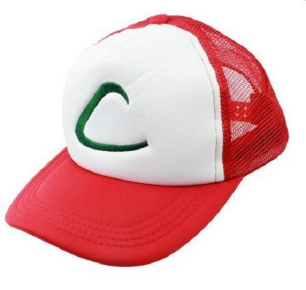 bf9047e85150e Get Quotations · POKEMON GO Ash Ketchum Hat Cap Trainer Anime Costume  Cosplay for Boys Kids Gift Collection