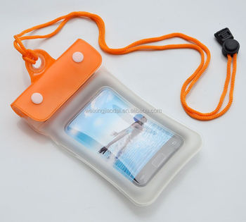 floating mobile phone waterproof bag with string
