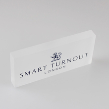 Clear Frost Acrylic Logo Block Lucite Logo Display