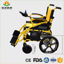 Newly comfortable folding double side brake power handicapped electric wheelchair for disabled people