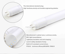 UL DLC 120cm t8 led tube 18W 4ft Nano plastic tube high lumens 2200 lumens t8 tube for North America