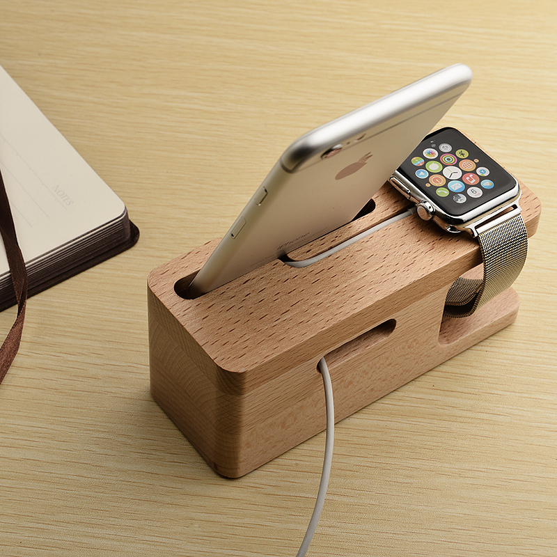 competitive price 4c248 b9af0 Portable Universal Wooden Phone Holder Stand Office Desk Home Table for  iphone Holder Stand For iPhone 6 / Plus For Other Phones