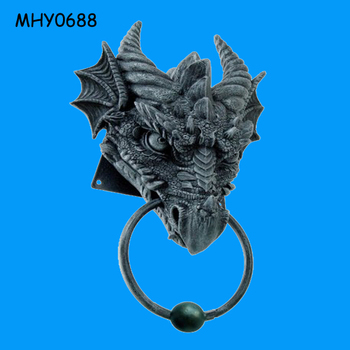 Ancient Horned Dragon Decorative Door Knocker