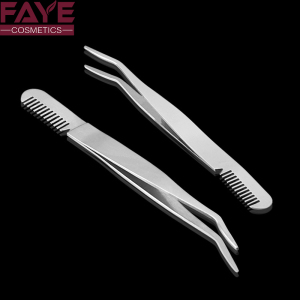 Professional Eyebrow Tweezers Stainless Steel eyelash Tweezers With Comb