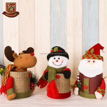 Christmas candy box wedding decoration santa snowman deer shaped wedding favors candy jars