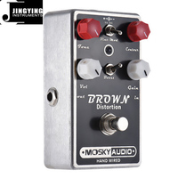 Manufacturers Wholesale BROWN Distortion Hand-Built Guitar Effect Pedals