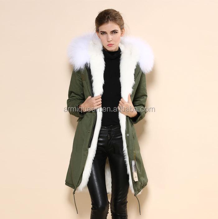 Manteau femme fourrure blanche
