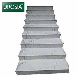 300x1200 20mm anti slip tiles for steps inside , white marble steps ,marble stairs