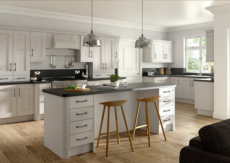 2018 Vermont New White Lacquer Kitchen Cabinets Solid Wood ...