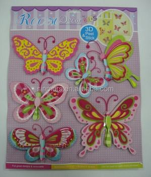 Bling Butterfly Room Decor Embellishment Art Baby Nursery Kids Dimensional  Chipboard 3d Wall Sticker