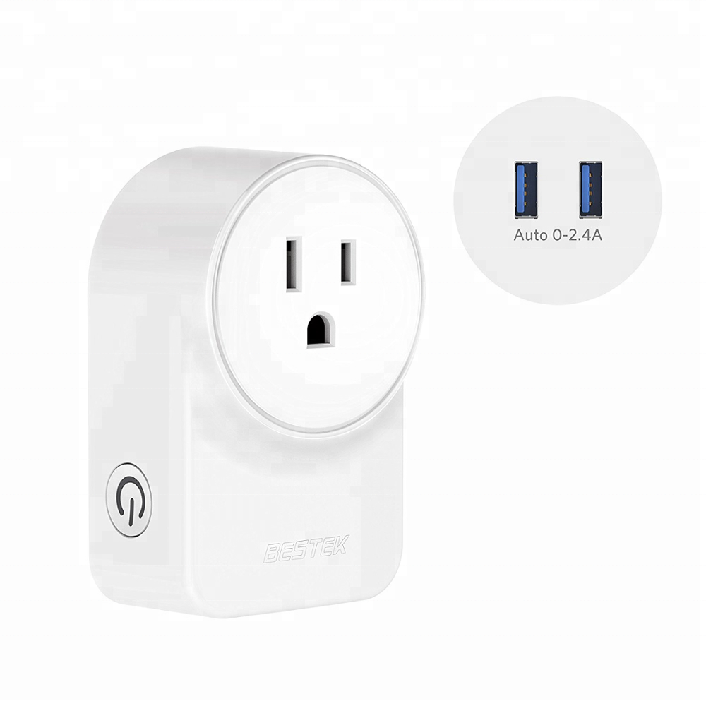 BESTEK Smart <strong>Plug</strong> with USB Outlet wifi socket can control remotely