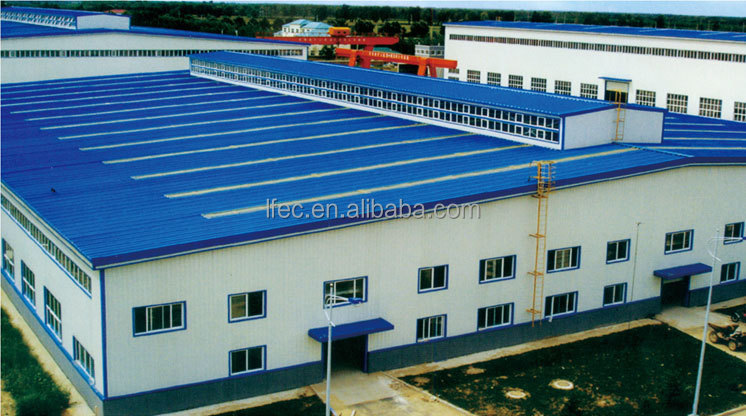long span steel structure space frame for warehouse