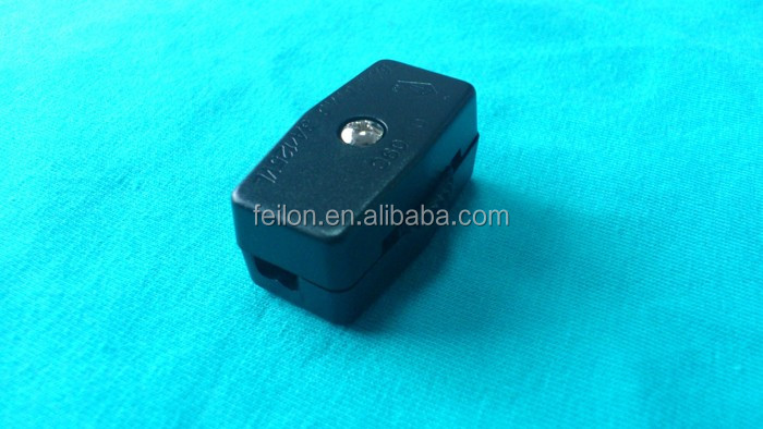 125V/3A SPT-2 gear inline rotary lamp switch