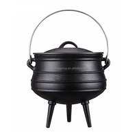 2# Factory Price Cast Iron Potjie Pots Three Legged Pot Cooking Pot