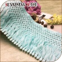 Direct Factory Green Decorative Cotton Tassel Fringe Trim For Curtain