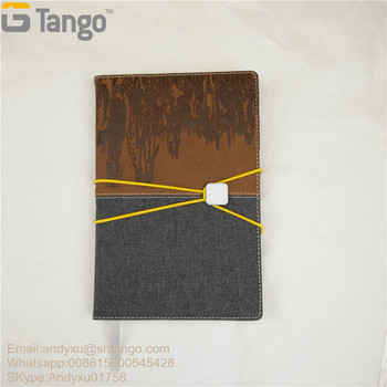 Linen book cloth fabric hardcover journal notebook with elastic string