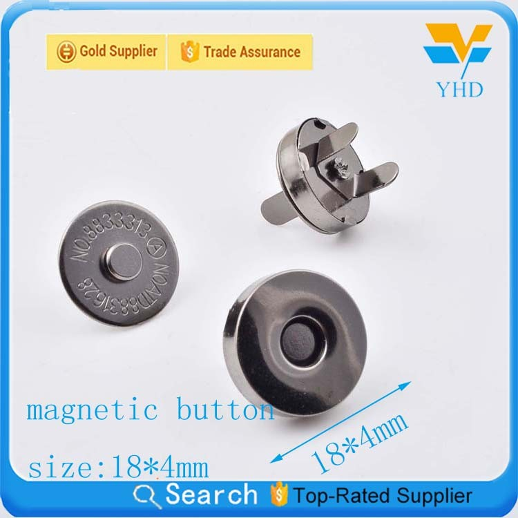Fashion hidden decorative magnetic button for bag