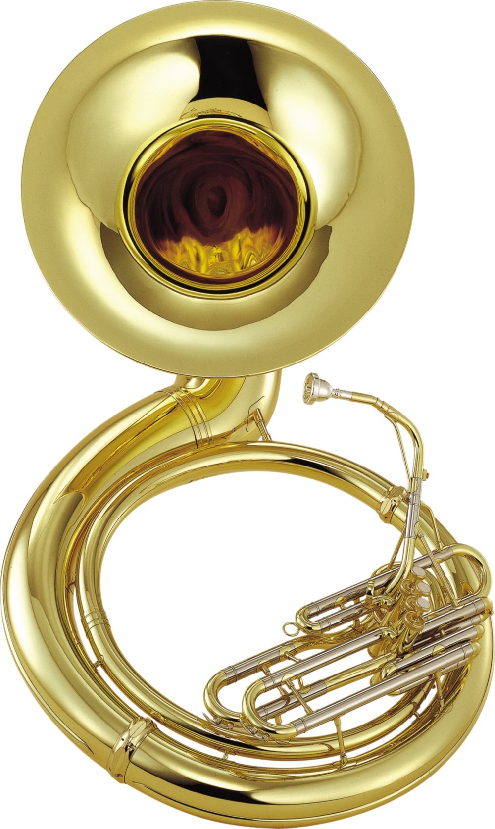 Yamaha YSH-411 Series Brass BBb Sousaphone Ysh411 Lacquer - Instrument Only
