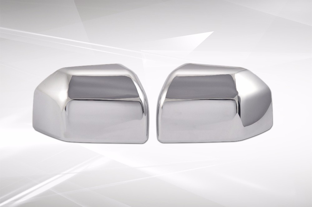 ABS Plastic Chrome Door Side Rearview Mirror Cover Up Half For Ford 2016 F150 F-150 Limited