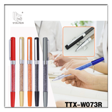 2018 promotional hotel pen thin twist metal Crystal Pen for business gift