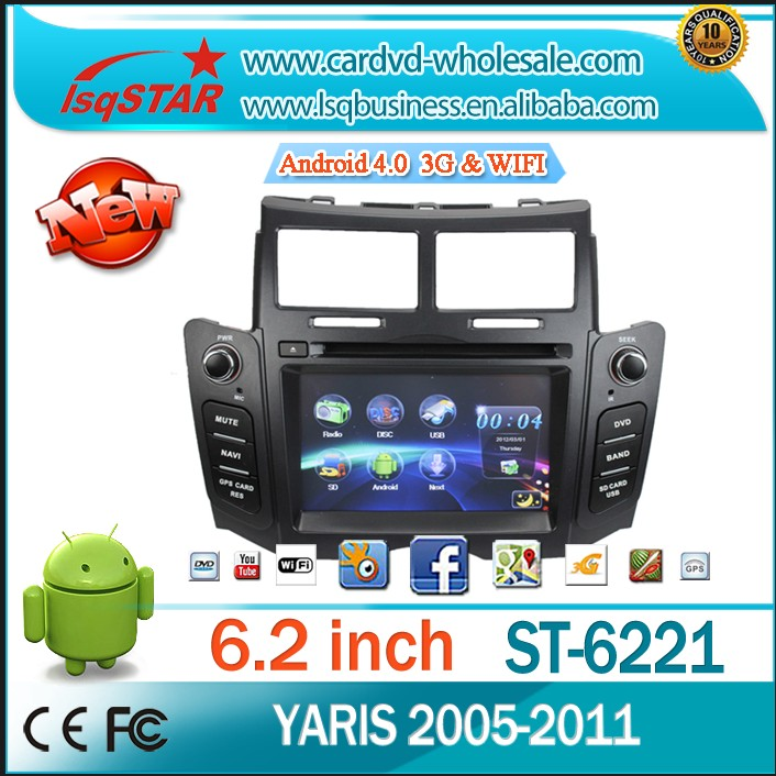 Autoradio gps for Toyota YARIS 2005-2011 with GPS 3G, WIFI ,Bluetooth,Ipod,Radio,TV