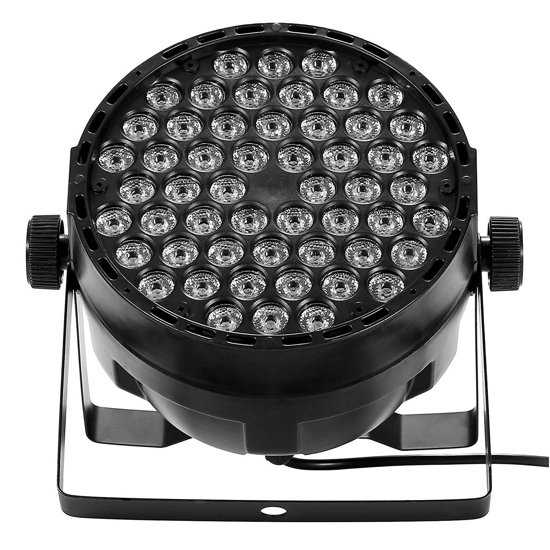 VEVOR 1Pcs 54X3W LED Stage Lights DMX 512 Control LED DJ PAR Light RGBW Stage Lighting Projector Party DJ KTV Bar Stage Club (1 Pcs)