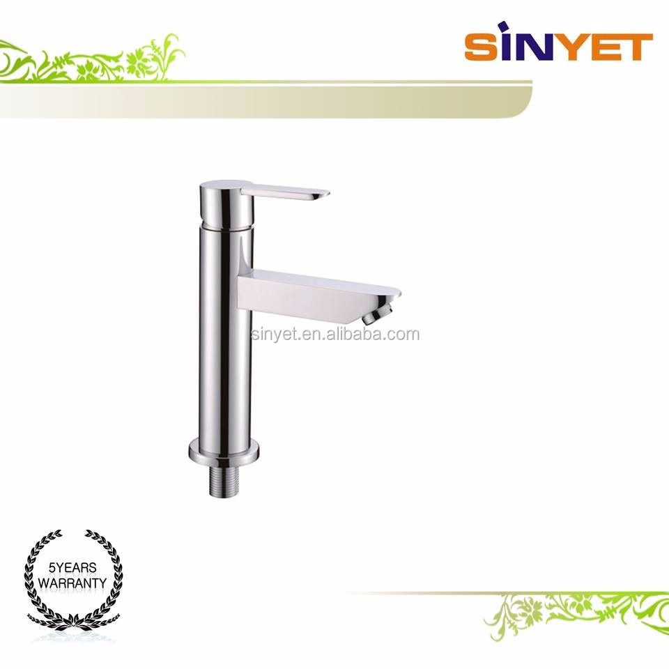 Brass Widespread Restaurant Home Single Handle Single Hole polish Lead-Free Lavatory Laundry Tub basin faucet