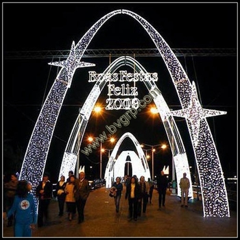 hot sale and durable outdoor christmas decoration led light decoration arches