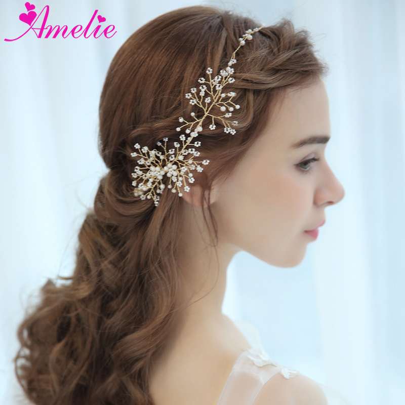 Ethereal Dream Wedding Floating Pearl Bead Clusters Bridal Headbands  Handmade Baby's Hair Vine Girls Headpiece Party Accessories - Buy Wedding  Bridal