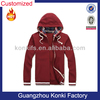 wholesale 100% pre-shrunk cotton zipper hoodies for men