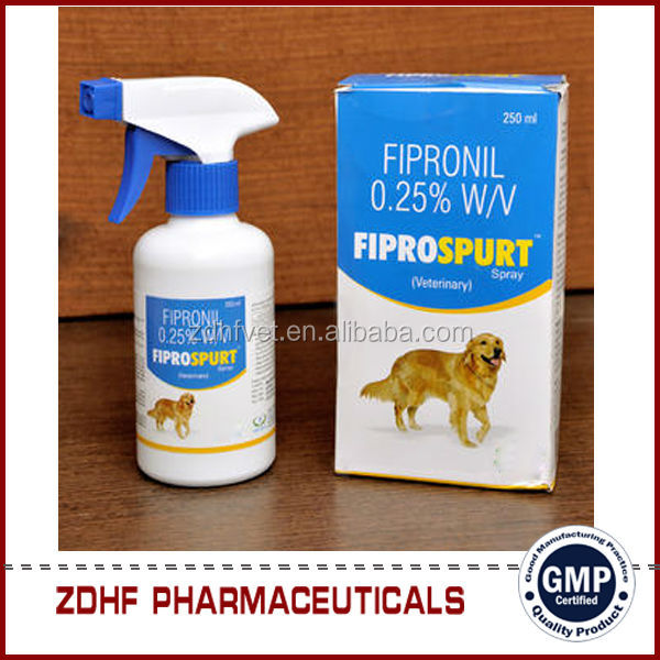 Pet medicine Insecticide fipronil spray 2.5% for dog and cat