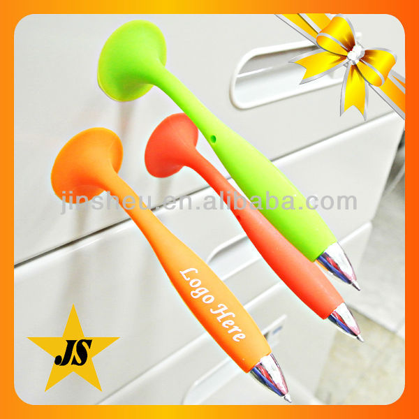 promotional custom cheap swing decorative silicone rubber pen