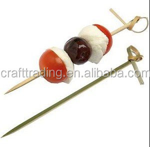 Decorative bamboo knotted fruit skewers