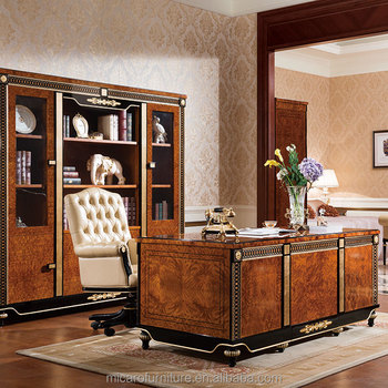 Luxury Home Office Desk / Executive Home Office Furniture Set / Desk For Home  Office