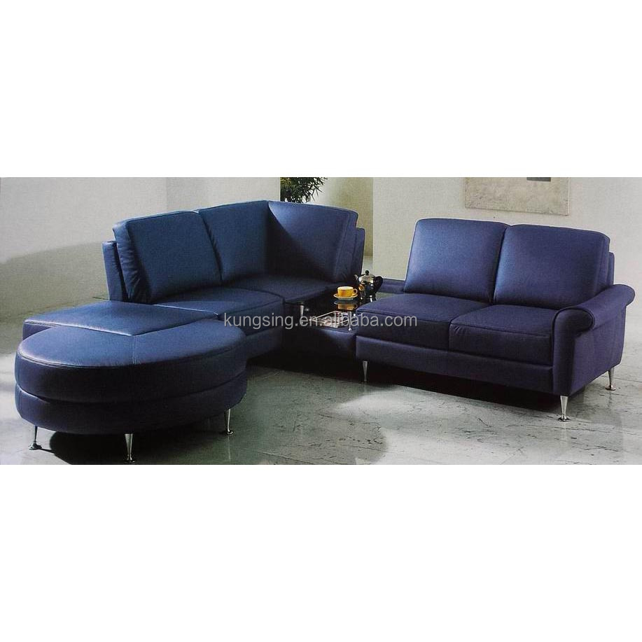 Blue Leather Sectional Sofa Set Supplieranufacturers At Alibaba
