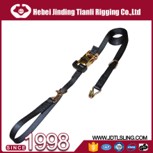 Truck lashing 4 tie down straps ratchet lashing belts 35mm cam buckle strap for cargo lashing used