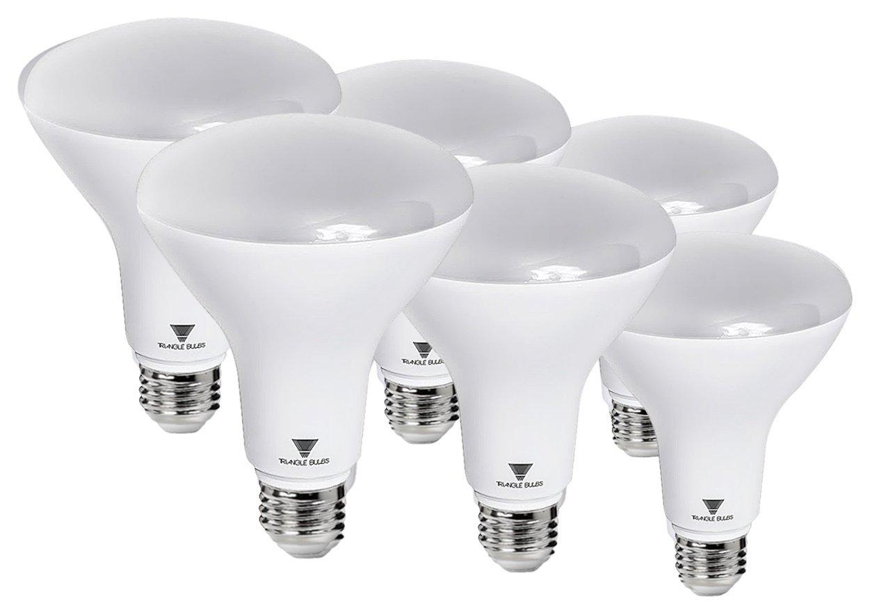 Triangle Bulbs T99011 (6 pack) - 8-Watt (65-Watt) BR30 LED Flood Light Bulb, Dimmable, Ul Listed, Energy Star Certified, 6 Pack