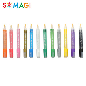 China Supplier 12pcs / set acrylic paint pen set for design