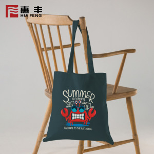 China Supplier Wholesale Custom Print Fold Able Tote Bag Canvas
