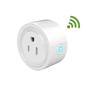 New Arrival wifi smart mini power plug socket Amazon Alexa Echo supporting US standard power outlet wall mounted socket