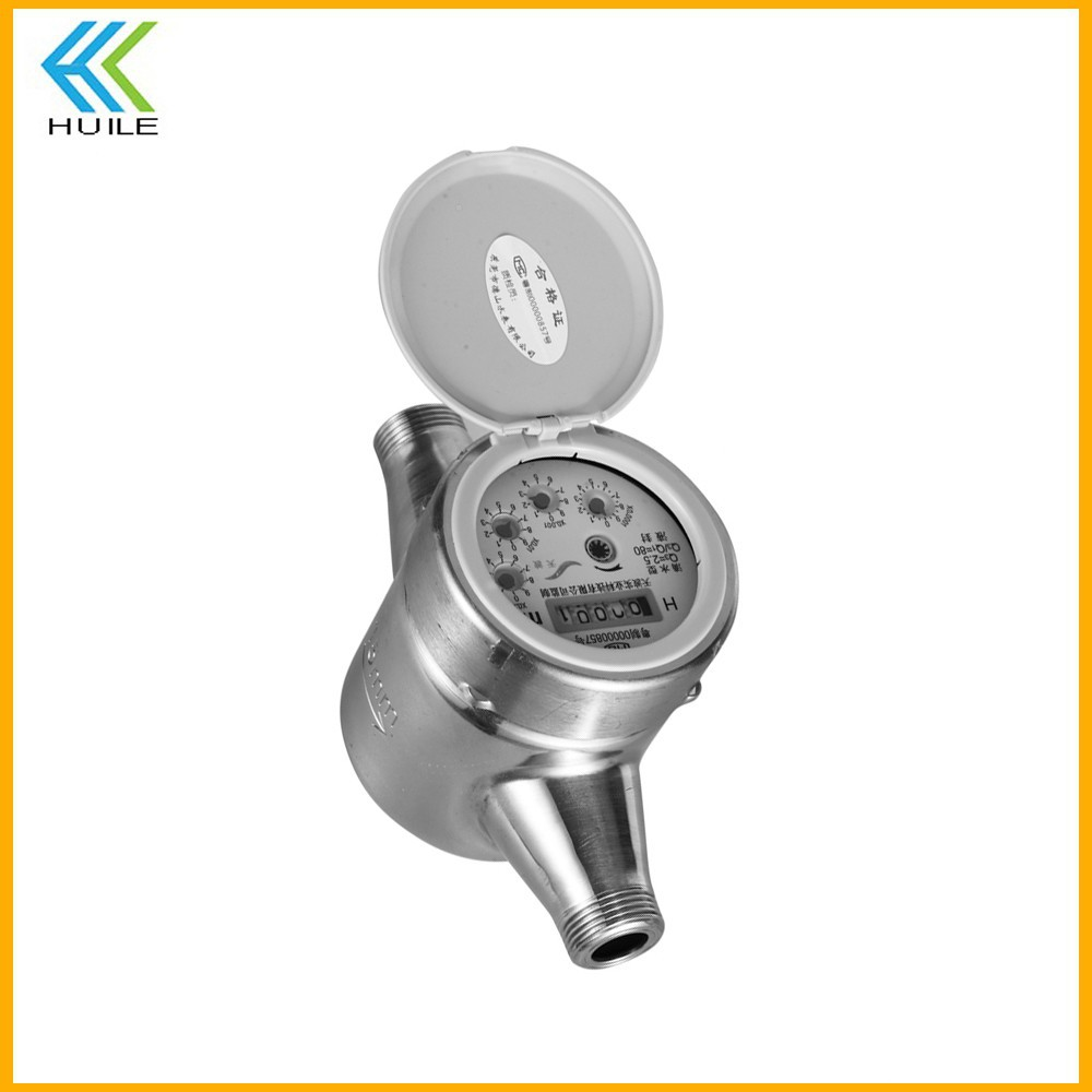 LXSG-13D remote read ic card prepaid wifi consumption domestic stainless security seal intelligent stainless steel water meter
