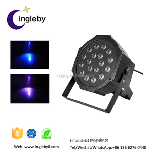 2017 high quality led stage lights dmx sound control 18 pcs*1w led disco par light