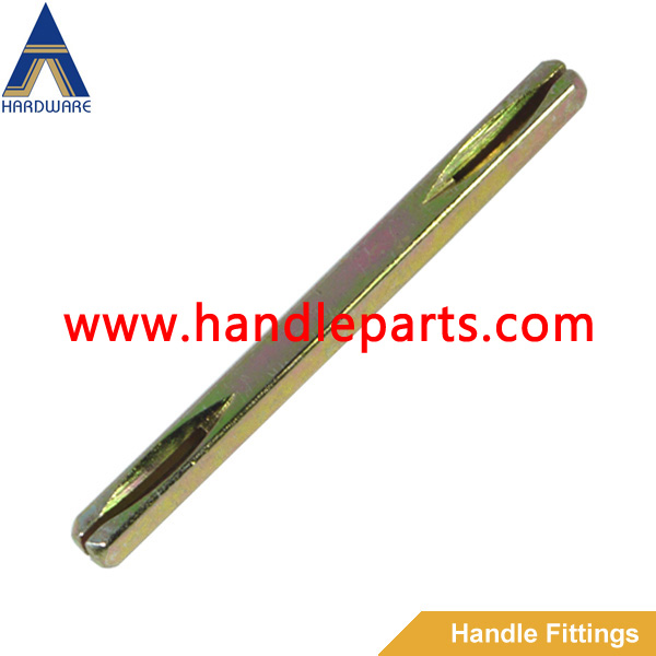 plain square spindle of door handle,mechanism spindle of window handle,iron slotted spindle of level handle
