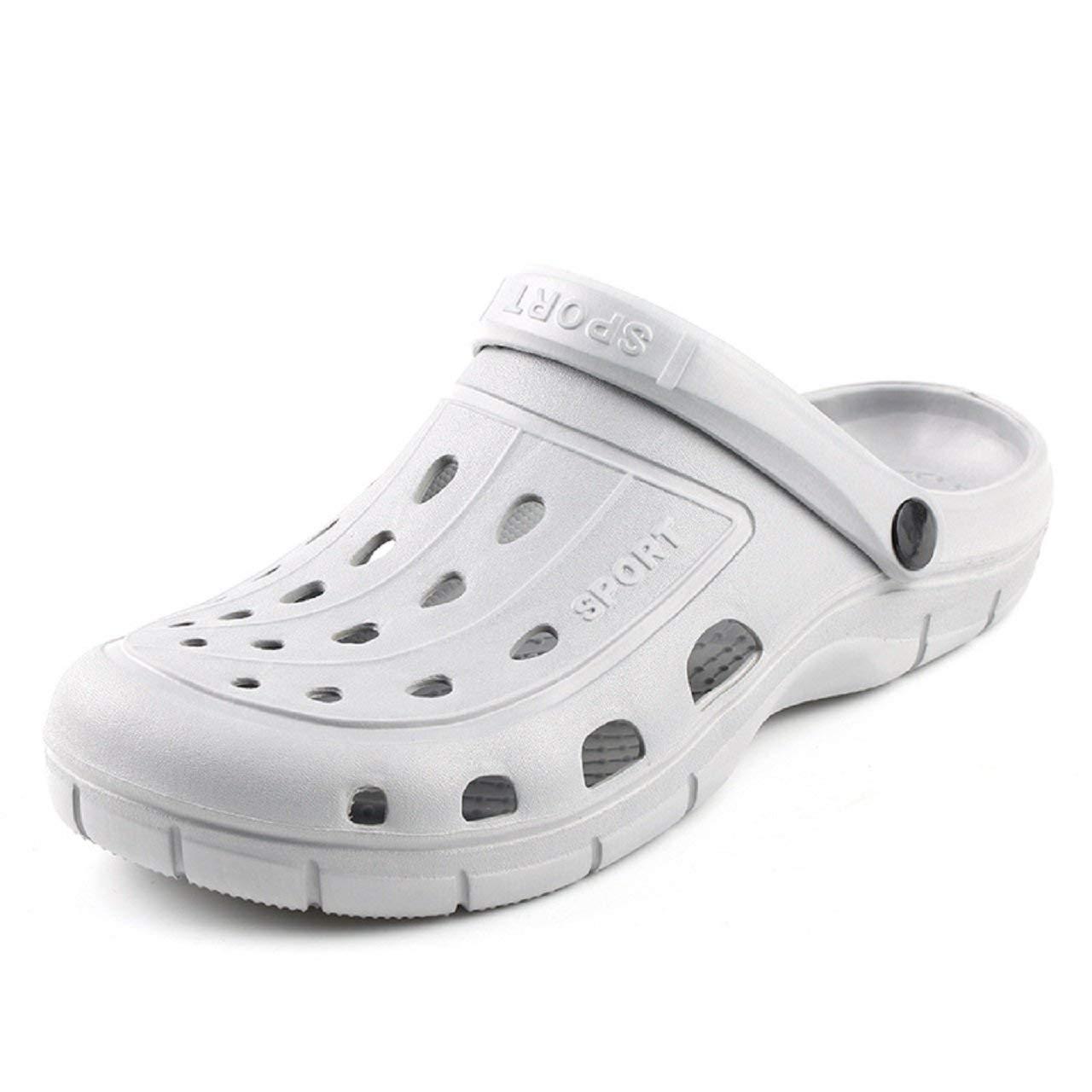 3421a4d6c79f Get Quotations · Kurop Mens Garden Shoes Summer Beach Sports EVA Clogs  Sandal Slippers