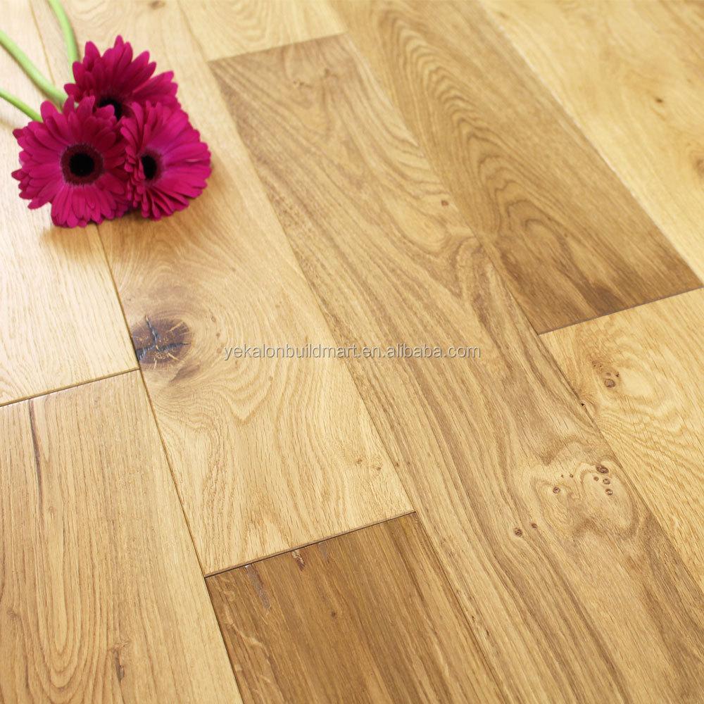 European Oak Timber Floor Engineered Hardwood Le Saw Cutting Wood Flooring With Pine Core