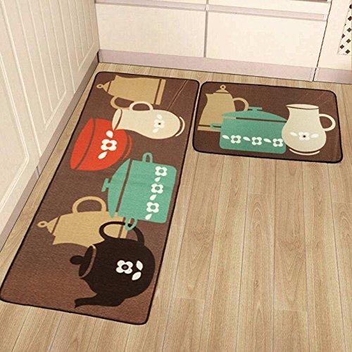 Merveilleux Get Quotations · 2 Pack Kitchen Rugs And Mats Set,SHACOS Polypropylene  Kitchen Carpet Floor Mats With Rubber