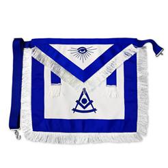 Mason Regalia Memuru Master Kumaş Yaka Mavi Lodge Büyük Zincir Masonik Altın Metal Amblemler Mücevher Aksesuarları
