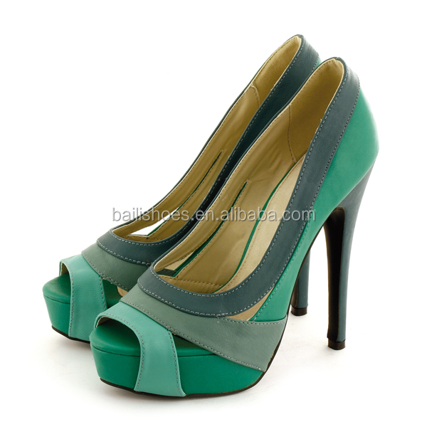 colorful fashion dress shoes high heel shoe