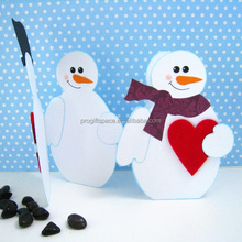 2017 new fashion eco friendly hotsell handmade felt decorative ornaments Merry Christmas winter snowman decoration made in China